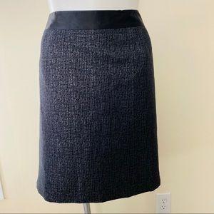 NWT Lane Bryant Gray Metallic Straight Skirt
